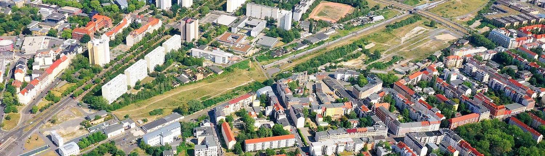 Areal Luftbild - Bayerischer Bahnhof Leipzig