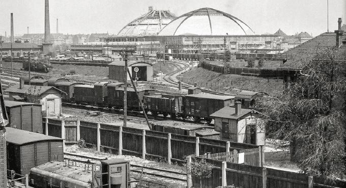 Sächsisch-Bayerscher Bahnhof zu Leipzig im Jahr 1840