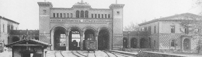 Historisches Foto des Bayerischen Bahnhof Leipzig